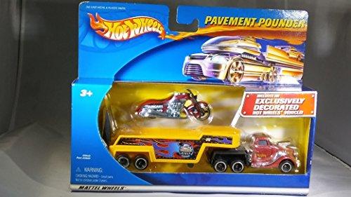 ホットウィール マテル ミニカー ホットウイール 【送料無料】Hot Wheels Pavement Pounder Duncans Motorcycles Bike, Custom Muscle Bikes Trailer, and Hot Wheels Truck Setホットウィール マテル ミニカー ホットウイール