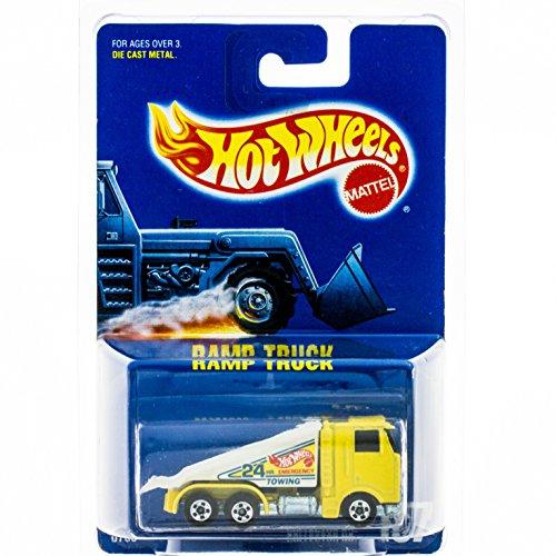 ホットウィール マテル ミニカー ホットウイール Mattel Hot Wheels 1991 1:64 Scale Yellow Ramp Tow Truck Die Cast Car Collector #187ホットウィール マテル ミニカー ホットウイール