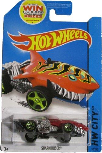 ホットウィール マテル ミニカー ホットウイール 【送料無料】Hot Wheels 2014 HW City Street Beasts Sharkruiser (Shark Car) 52/250, Redホットウィール マテル ミニカー ホットウイール