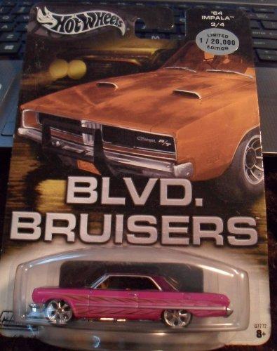 ホットウィール マテル ミニカー ホットウイール 【送料無料】Hot Wheels BLVD BRUISERS '64 Impala Limited edition 3/4ホットウィール マテル ミニカー ホットウイール