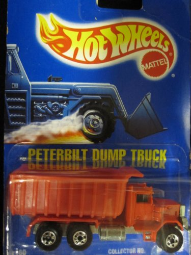 ホットウィール マテル ミニカー ホットウイール 【送料無料】Peterbilt Dump Truck 1990 Hot Wheels Red with Basic Wheels on Solid Blue Card (1:64 Scale Collectible Die Cast Metal Toy Car Model #100ホットウィール マテル ミニカー ホットウイール