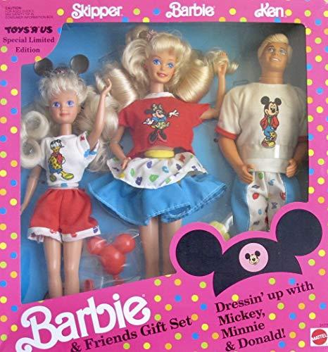 バービー バービー人形 チェルシー スキッパー ステイシー 3177 Barbie & Friends Gift Set Dressin' Up with Mickey, Minnie & Donald! - Toys