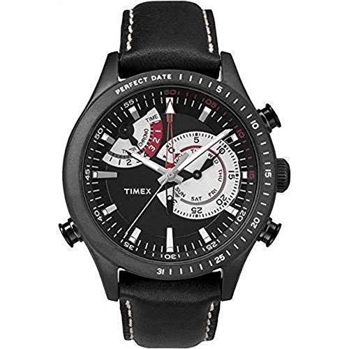 タイメックス 腕時計 メンズ 【送料無料】Timex Men's Quartz Watch with Black Dial Analogue Display Quartz Plastic TW2P7?2600タイメックス 腕時計 メンズ