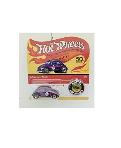 ホットウィール マテル ミニカー ホットウイール 【送料無料】Hot Wheels 2018 50th Anniversary Originals Volkswagen Beetle with Button New 2/5ホットウィール マテル ミニカー ホットウイール