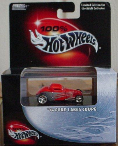 ホットウィール マテル ミニカー ホットウイール 【送料無料】Hot Wheels 100% '34 Ford Lakes Coupe #18 2003ホットウィール マテル ミニカー ホットウイール