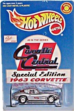 ホットウィール マテル ミニカー ホットウイール 【送料無料】Hot Wheels - Special Edition - Corvette Central - #2 in Series - 1963 Corvette. 1:64 Scale Car Replica. Metalflake Silver Body Color.ホットウィール マテル ミニカー ホットウイール