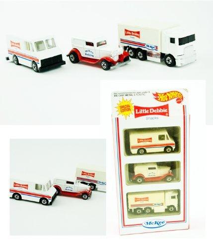 ホットウィール マテル ミニカー ホットウイール 【送料無料】HotWheels Special Edition Little Debbie Snacks McKee Baking Vehicle Setホットウィール マテル ミニカー ホットウイール
