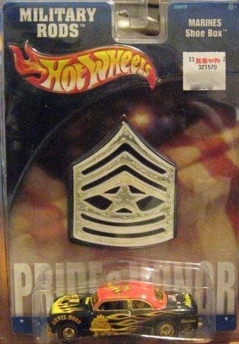 ホットウィール マテル ミニカー ホットウイール 【送料無料】Hot Wheels Military Rods Marines Shoe Box 1:64ホットウィール マテル ミニカー ホットウイール