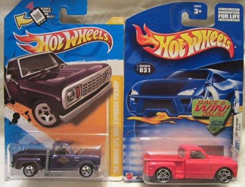 ホットウィール マテル ミニカー ホットウイール Hot Wheels Custom '69 Chevy 2002-031 & 2012 New Models '78 Dodge Li'l Red Express Pickup Die Cast 1/64 Scale 2 Car Bundle!ホットウィール マテル ミニカー ホットウイール
