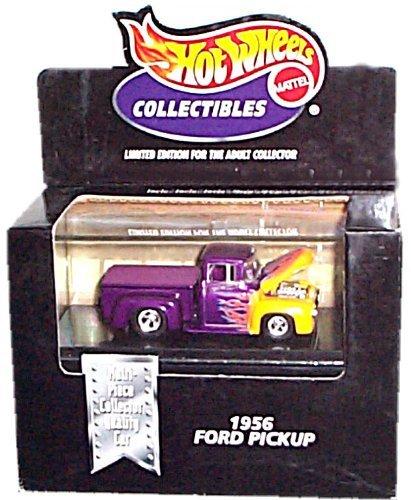 ホットウィール マテル ミニカー ホットウイール 【送料無料】Hot Wheels Collectibles - Limited Edition Cool Collectibles - 1956 Ford PickUp (Purple & Yellow w/Flame Graphics) - Mounted in Collector's Dホットウィール マテル ミニカー ホットウイール