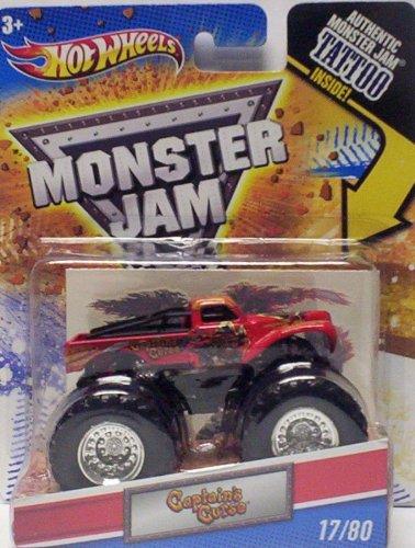 ホットウィール マテル ミニカー ホットウイール Hot Wheels 2011 Monster Jam #17/80 CAPTAIN'S CURSE 1:64 Scale Collectible Truck with Monster Jam TATTOOホットウィール マテル ミニカー ホットウイール