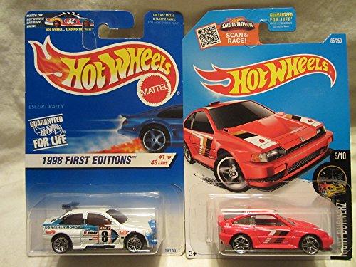 ホットウィール マテル ミニカー ホットウイール 【送料無料】Hot Wheels 1998 First Editions Escort Rally & Night Burnerz 1985 Honda CR-X Die Cast 1/64 Scale 2 Car Bundle!ホットウィール マテル ミニカー ホットウイール