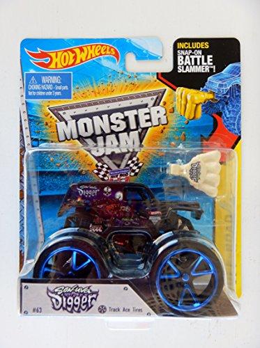 ホットウィール マテル ミニカー ホットウイール 【送料無料】Hot Wheels Monster Jam 2015 Off-Road Son Uva Digger (with Snap-On Battle Slammer) 1:64 Scaleホットウィール マテル ミニカー ホットウイール