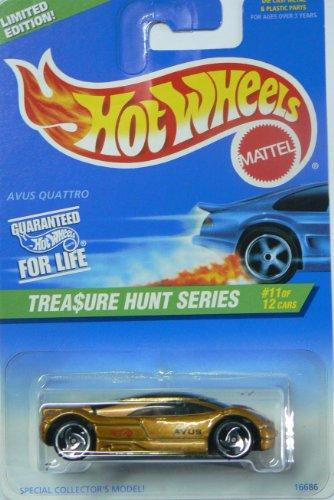 ホットウィール マテル ミニカー ホットウイール 【送料無料】1997 Hot Wheels Treasure Hunt Avus Quattro Gold #588ホットウィール マテル ミニカー ホットウイール