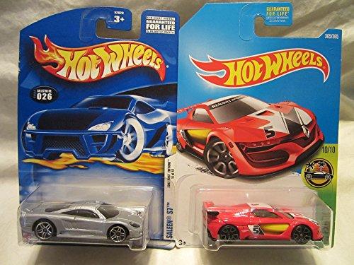 ホットウィール マテル ミニカー ホットウイール 【送料無料】Hot Wheels 2002-026 Saleen S7 & HW Exotics Renault Sport R.S. 01 Die Cast 2 Car Set!ホットウィール マテル ミニカー ホットウイール