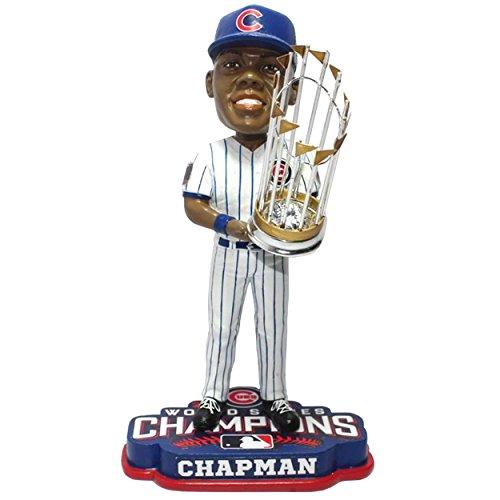 ボブルヘッド バブルヘッド 首振り人形 ボビンヘッド BOBBLEHEAD 【送料無料】FOCO MLB Chicago Cubs Aroldis Chapman Unisex Chapman A. #54 2016 World Series Champions 8