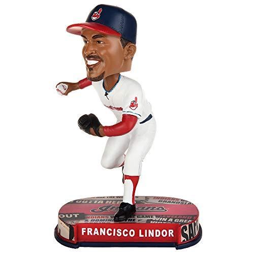 ボブルヘッド バブルヘッド 首振り人形 ボビンヘッド BOBBLEHEAD Forever Collectibles Francisco Lindor Cleveland Indians Headline Special Edition Bobblehead MLBボブルヘッド バブルヘッド 首振り人形 ボビンヘッド BOBBLEHEAD