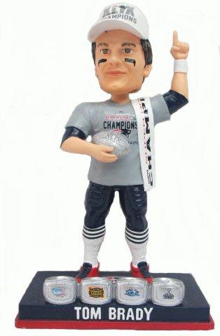 ボブルヘッド バブルヘッド 首振り人形 ボビンヘッド BOBBLEHEAD 【送料無料】Tom Brady (New England Patriots) Super Bowl XLIX Champ T-Shirt/Hat 4X Ring Base Exclusive #/500 NFL Bobble Heaボブルヘッド バブルヘッド 首振り人形 ボビンヘッド BOBBLEHEAD