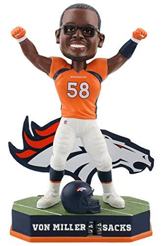ボブルヘッド バブルヘッド 首振り人形 ボビンヘッド BOBBLEHEAD Forever Collectibles Von Miller Denver Broncos Fantasy Football Sacks Tracker Bobblehead NFLボブルヘッド バブルヘッド 首振り人形 ボビンヘッド BOBBLEHEAD