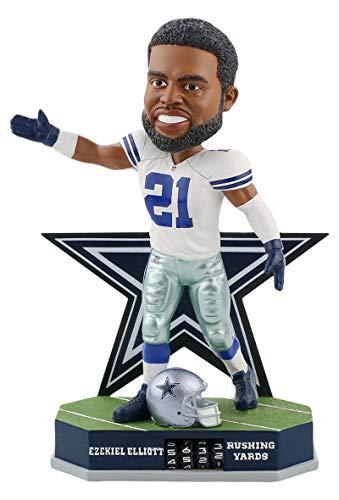 ボブルヘッド バブルヘッド 首振り人形 ボビンヘッド BOBBLEHEAD Forever Collectibles Ezekiel Elliott Dallas Cowboys Fantasy Football Rushing Yards Bobblehead NFLボブルヘッド バブルヘッド 首振り人形 ボビンヘッド BOBBLEHEAD