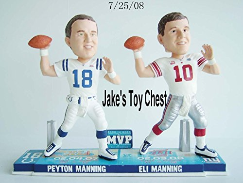 ボブルヘッド バブルヘッド 首振り人形 ボビンヘッド BOBBLEHEAD Forever Collectibles Peyton Manning & Eli Manning Super Bowl MVP Bobblehead New Only 360 Were Made Each Numbered 9 Inchボブルヘッド バブルヘッド 首振り人形 ボビンヘッド BOBBLEHEAD