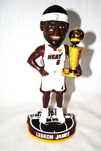 ボブルヘッド バブルヘッド 首振り人形 ボビンヘッド BOBBLEHEAD LeBron James #6 Miami Heat 2012 NBA Finals Champions 8
