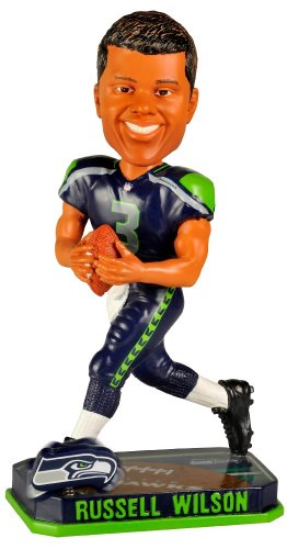 ボブルヘッド バブルヘッド 首振り人形 ボビンヘッド BOBBLEHEAD Russell Wilson Seattle Seahawks Forever Collectibles 2014 NFL Springy Logo Base Bobbleheadボブルヘッド バブルヘッド 首振り人形 ボビンヘッド BOBBLEHEAD