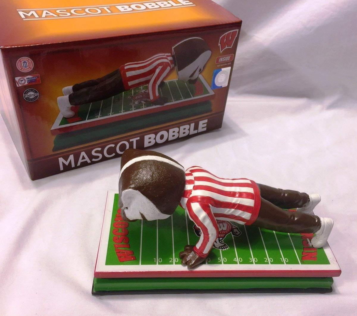 ボブルヘッド バブルヘッド 首振り人形 ボビンヘッド BOBBLEHEAD Wisconsin Badgers Bucky Badger Mascot Bobblehead