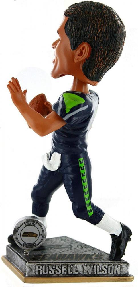 ボブルヘッド バブルヘッド 首振り人形 ボビンヘッド BOBBLEHEAD Forever Collectibles Russell Wilson Seattle Seahawks 2015 Springy Logo Action Bobble Headボブルヘッド バブルヘッド 首振り人形 ボビンヘッド BOBBLEHEAD