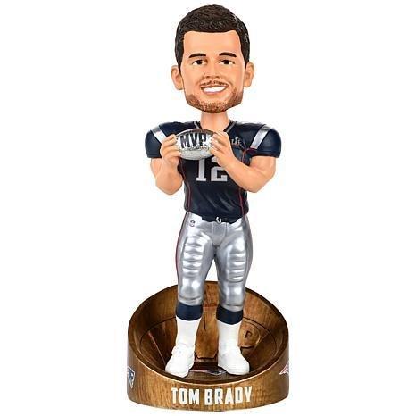 ボブルヘッド バブルヘッド 首振り人形 ボビンヘッド BOBBLEHEAD Forever Collectibles Tom Brady New England Patriots Super Bowl LI MVP - Blue Jersey Bobblehead NFLボブルヘッド バブルヘッド 首振り人形 ボビンヘッド BOBBLEHEAD