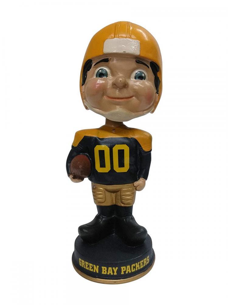 ボブルヘッド バブルヘッド 首振り人形 ボビンヘッド BOBBLEHEAD Forever Collectibles Classic Vintage Green Bay Packers Football Player Throwback Blue Jersey Yellow Circle Vintage Classic Bobblボブルヘッド バブルヘッド 首振り人形 ボビンヘッド BOBBLEHEAD