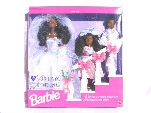 バービー バービー人形 バービーコレクター コレクタブルバービー プラチナレーベル 【送料無料】Barbie, Stacie and Todd Dream Wedding (African American limited edition 19バービー バービー人形 バービーコレクター コレクタブルバービー プラチナレーベル
