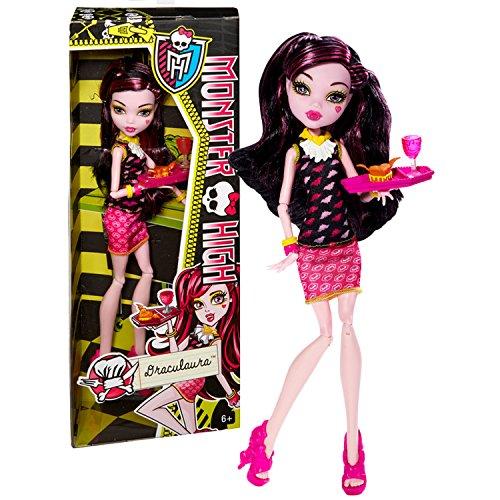 モンスターハイ 人形 ドール 【送料無料】Monster High Mattel Year 2013 Creepateria Series 11 Inch Doll Set - Draculaura Daughter of Dracula (BJM19) with Food Tray, Heart Cake and Chaliceモンスターハイ 人形 ドール