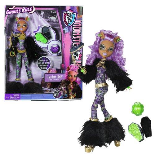 モンスターハイ 人形 ドール 【送料無料】Mattel Year 2012 Monster High Ghouls Rule Series 12 Inch Doll Set - Clawdeen Wolf Daughter of The Werewolf with Mask, Mini Coffin, Pumpkin Basket, Hairbrush and Display Standモンスターハイ 人形 ドール