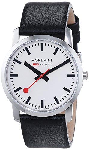 モンディーン 北欧 スイス 腕時計 レディース A400.30351.11SBB 【送料無料】Mondaine Women's SBB Stainless Steel Swiss-Quartz Watch with Leather Calfskin Strap, Black, 20 (Model: A400.3035モンディーン 北欧 スイス 腕時計 レディース A400.30351.11SBB