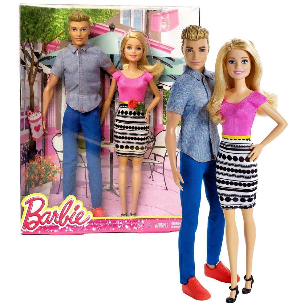 バービー バービー人形 ケン Ken Mattel Year 2014 Barbie Life in the Dreamhouse Series 2 Pack 12 Inch Doll Set DLH76 - KEN in Light Blue Shirt & Blue Pants with BARBIE in Pink Dress with Black White Dotsバービー バービー人形 ケン Ken