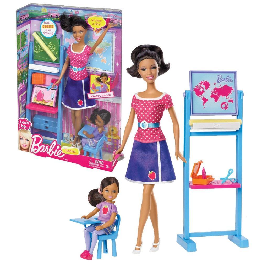 バービー バービー人形 チェルシー スキッパー ステイシー Mattel Year 2012 Barbie I Can Be Series 12 Inch Doll Set - Nikki as TEACHER (BBD78) with Sister Chelsea Plus Classroom Accessoryバービー バービー人形 チェルシー スキッパー ステイシー