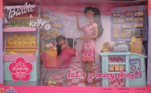 バービー バービー人形 チェルシー スキッパー ステイシー Barbie & Kelly LET'S GROCERY SHOP 27 Piece AA Playset TOYS