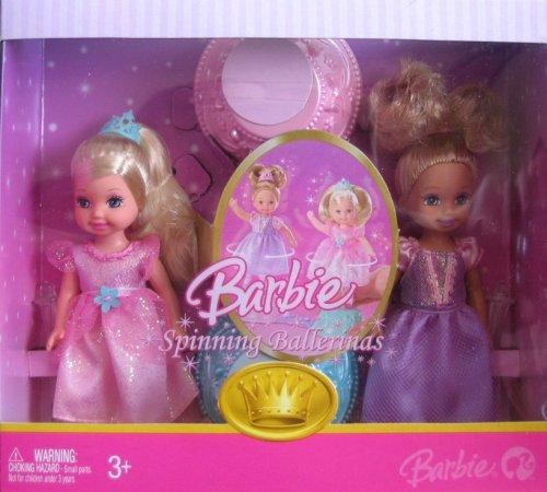 バービー バービー人形 チェルシー スキッパー ステイシー Barbie Spinning Ballerinas 4 Inch Tall Doll - Caucasian Kelly in Pink Outfit and Purple Outfitバービー バービー人形 チェルシー スキッパー ステイシー