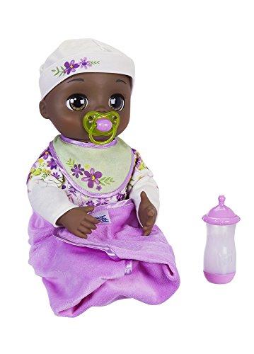 ベビーアライブ 赤ちゃん おままごと ベビー人形 Baby Alive Real As Can Be Baby: Realistic African American Doll, 80+ Lifelike Expressions, Movements & Real Baby Sounds, With Doll Accessories, Toy for Girls ベビーアライブ 赤ちゃん おままごと ベビー人形