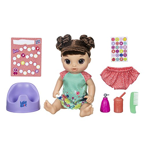 "ベビーアライブ 赤ちゃん おままごと ベビー人形 Baby Alive Potty Dance Baby: Talking Baby Doll with Brown Hair, Potty, Rewards Chart, Undies & More, Doll That ""Pees"" On Her Potty, For Girls & Boys 3 Yeaベビーアライブ 赤ちゃん おままごと ベビー人形"