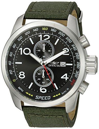 インヴィクタ インビクタ 腕時計 メンズ Invicta Men's Aviator Stainless Steel Quartz Watch with Nylon Strap, Green, 24 (Model: 19409)インヴィクタ インビクタ 腕時計 メンズ