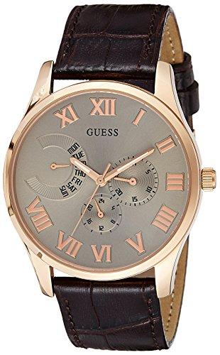 ゲス GUESS 腕時計 メンズ Guess W0608G1 Men's Dress Multifunction Brown Leather Strap Watchゲス GUESS 腕時計 メンズ