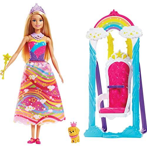 バービー バービー人形 ファンタジー 人魚 マーメイド 【送料無料】Barbie Dreamtopia Rainbow Cove Princess Swing Setバービー バービー人形 ファンタジー 人魚 マーメイド