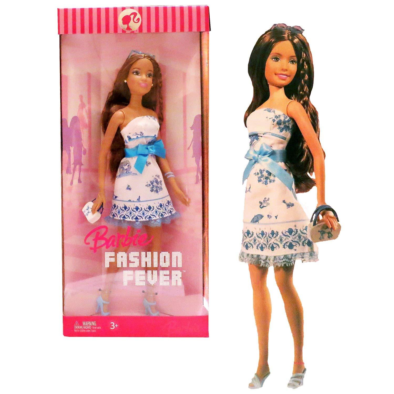 バービー バービー人形 日本未発売 Mattel Year 2006 Barbie Fashion Fever Series 12 Inch Tall Doll Set - Sweet, Creative and Girly TERESA (K8414) in Strapless White Dress with Blue Bow Plus Blue High Heel Shoes, Sunglassバービー バービー人形 日本未発売