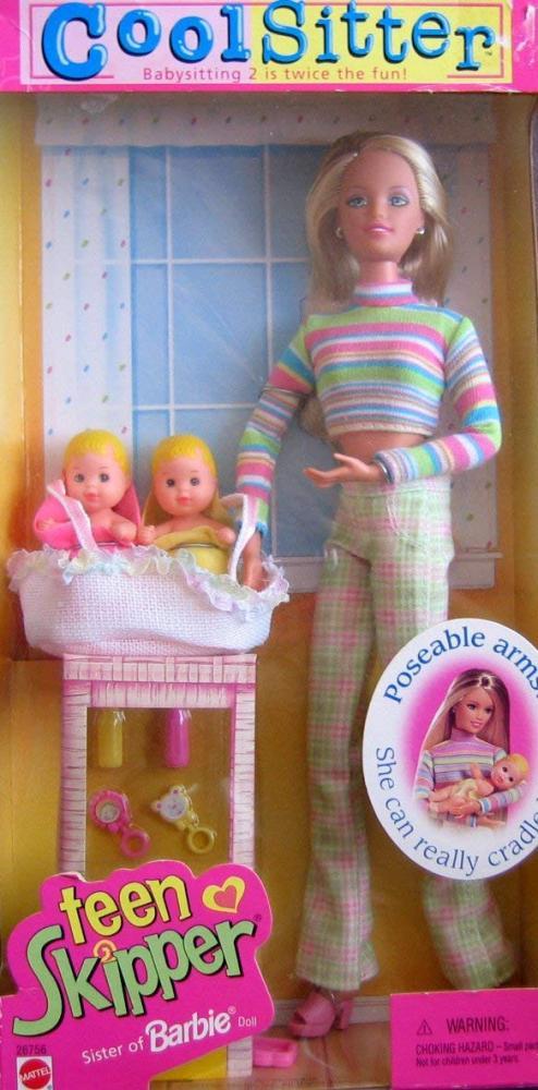 バービー バービー人形 チェルシー スキッパー ステイシー Barbie Cool Sitter TEEN SKIPPER Doll - Babysitting 2 is Twice the Fun! (1998)バービー バービー人形 チェルシー スキッパー ステイシー