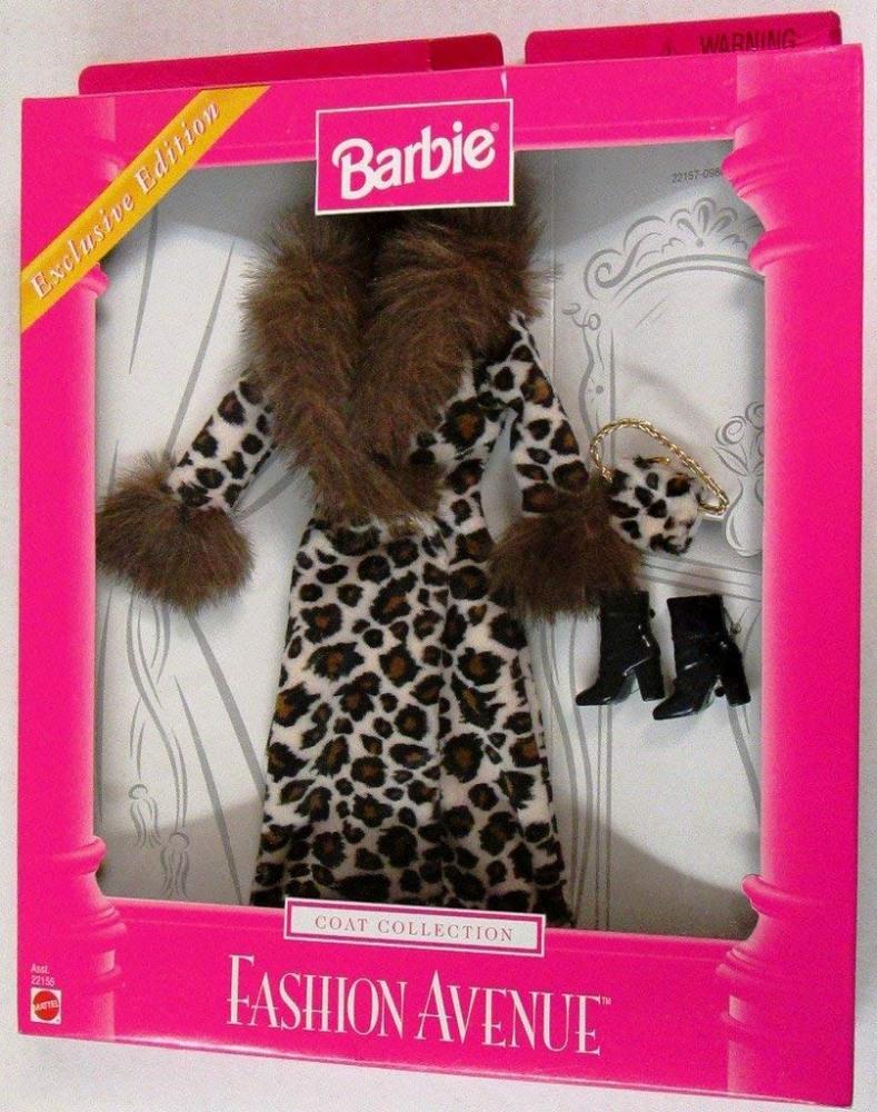 バービー バービー人形 着せ替え 衣装 ドレス Barbie Fashion Avenue Leopard Coat - Exclusive Edition 1999 - Asst 22155 by Mattelバービー バービー人形 着せ替え 衣装 ドレス