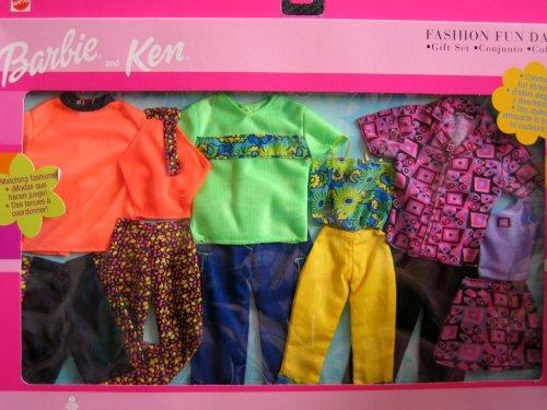バービー バービー人形 着せ替え 衣装 ドレス 【送料無料】Barbie & Ken Fashion Fun Date Gift Set - Matching Colorful Fun Styles! (2001)バービー バービー人形 着せ替え 衣装 ドレス