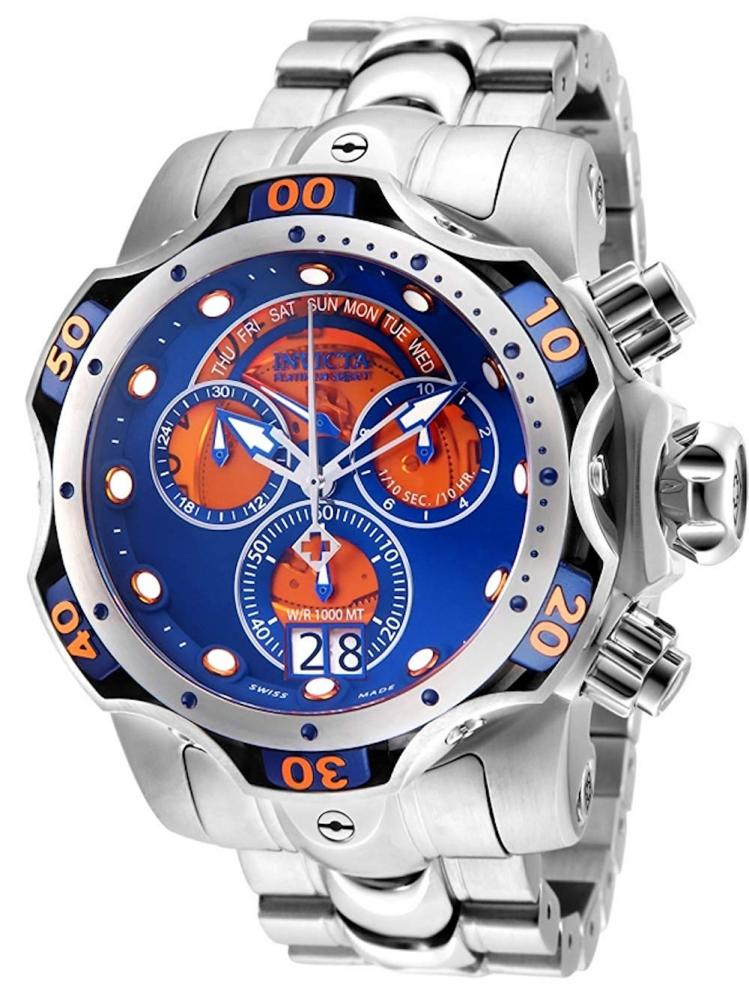 インヴィクタ インビクタ ベノム 腕時計 メンズ Invicta Men's Venom Quartz Watch with Stainless Steel Strap, Silver, 26 (Model: 26136)インヴィクタ インビクタ ベノム 腕時計 メンズ