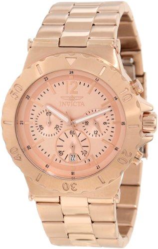 腕時計 インヴィクタ インビクタ メンズ 【送料無料】Invicta Men's 1267 Specialty Chronograph Rose Tone Dial 18k Rose Gold Ion-Plated Watch腕時計 インヴィクタ インビクタ メンズ:angelica